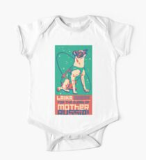 Laika Space Dog Illustration Vector Russian Propaganda Pup Retro Vintage One Piece - Short Sleeve