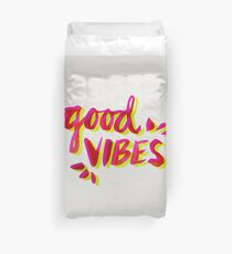 Good Vibes – Pink & Yellow Duvet Cover