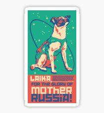 Laika Space Dog Illustration Vector Russian Propaganda Pup Retro Vintage Sticker