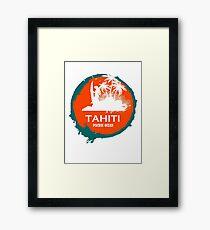 TAHITI surf Paradise Framed Print