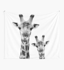SAFARI PROFILE - GIRAFFES WHITE EDITION Wall Tapestry