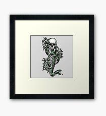 Death ink Framed Print