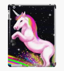 Vinilo o funda para iPad Fluffy Pink Unicorn Dancing on Rainbows