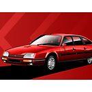 Poster artwork - Citroen CX GTI Turbo 2 by RJWautographics