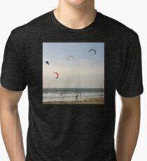 Kite Surfing Tri-blend T-Shirt
