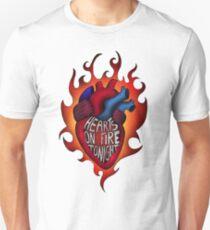 Hearts on fire tonight Unisex T-Shirt