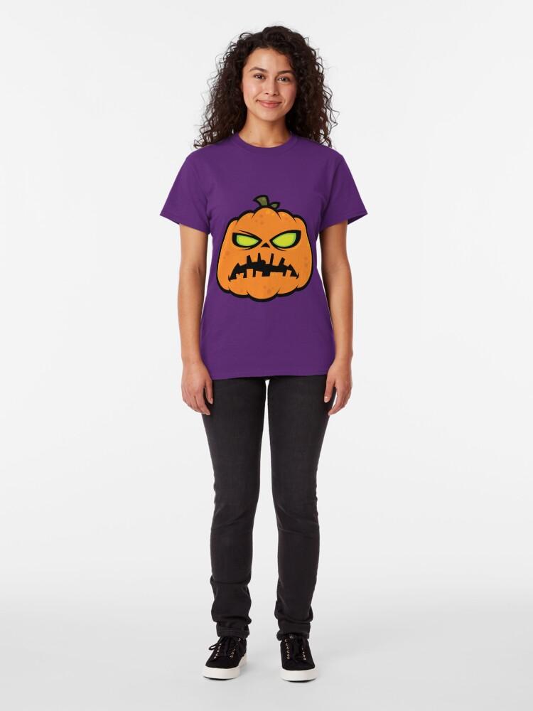 Alternate view of Pumpkin Zombie Classic T-Shirt