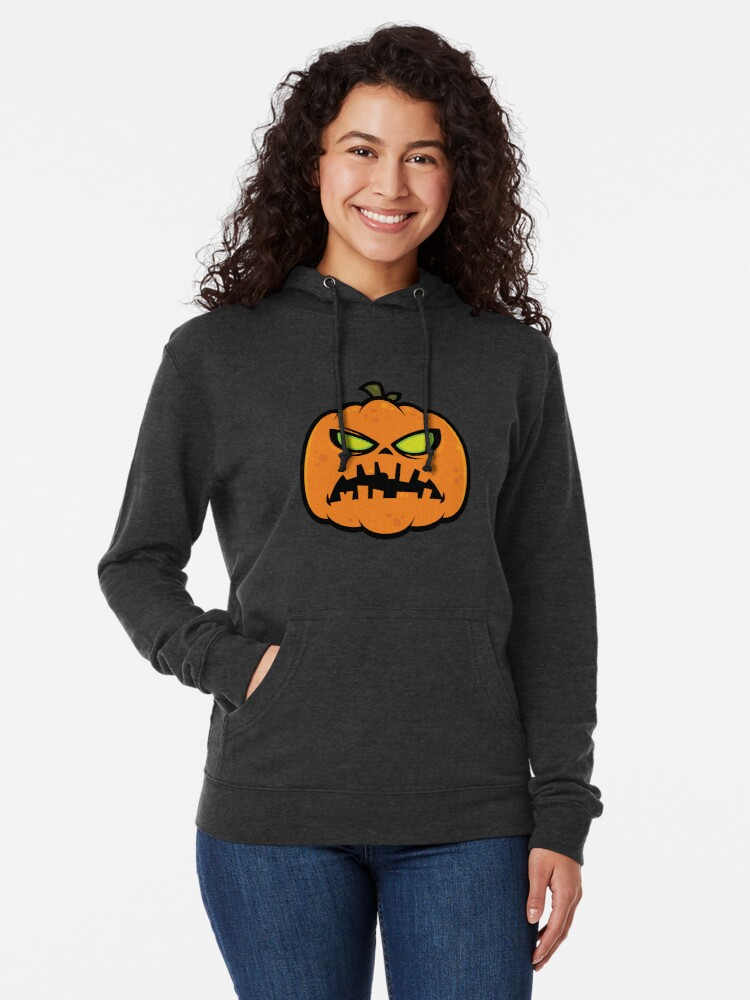 Alternate view of Pumpkin Zombie Lightweight Hoodie