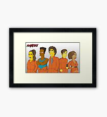 Misfits - Simpsons Style! Framed Print
