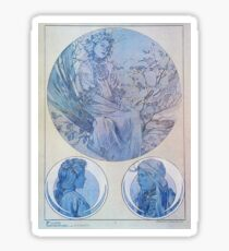 Alphonse Mucha - Figures Dcoratives Sticker