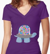 Gumball Machine Tortoise Women's Fitted V-Neck T-Shirt
