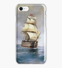 Aivasovsky Ivan - Brig Mercury Attacked By Two Turkish Ships 1892 iPhone Case/Skin