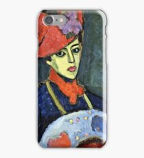 Alexei Jawlensky - Schokko With Red Hat  iPhone Case/Skin