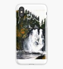 Canada Waterfall Nova Scotia Acrylics On Paper iPhone Case/Skin
