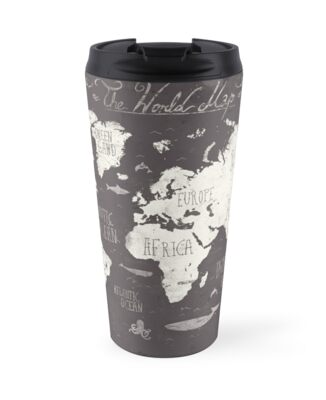 The world map travel mugs by mikekoubou redbubble the world map by mikekoubou gumiabroncs Image collections