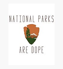 National Parks are Dope Photographic Print