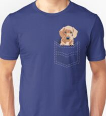 Daschund in a pocket Unisex T-Shirt