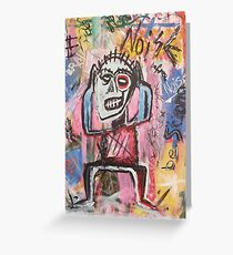 Untitled (Noise) Neo-Expressionism Greeting Card