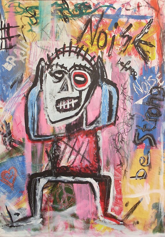 """""""Untitled (Noise) Neo-Expressionism"""" Stickers by Bela"""