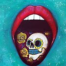 Mouth Full Of Sugar Skull by Laura Barbosa