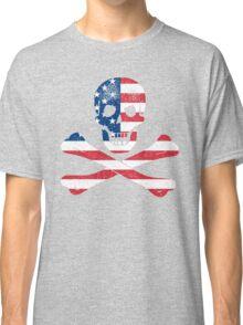 Skull and Crossbones USA Classic T-Shirt
