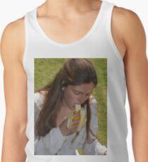Girl Eating A Banana Men's Tank Top