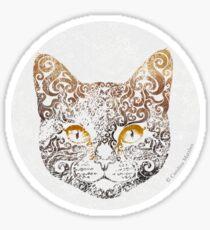 Swirly Cat Sticker