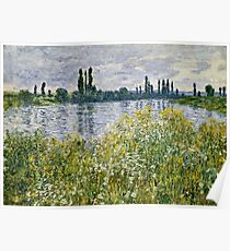 Claude Monet - Banks Of The Seine, Vetheuil 1880  Poster