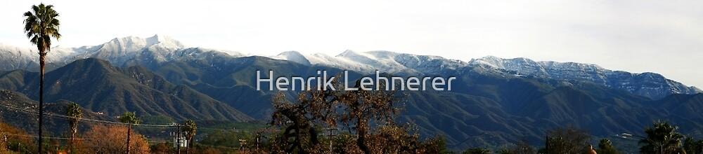 Ojai Valley With Snow by Henrik Lehnerer