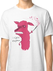 Bad Explanation Art Dog Classic T-Shirt