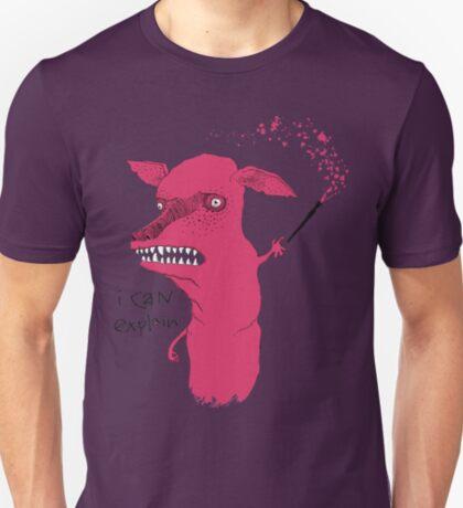 Bad Explanation Art Dog T-Shirt