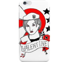 Valentine Girl - Red and Black iPhone Case/Skin