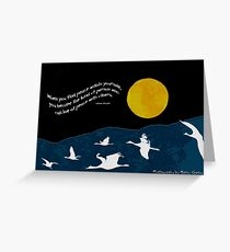 Full Moon with Sandhill Cranes (Comes with any quote or no text) Greeting Card