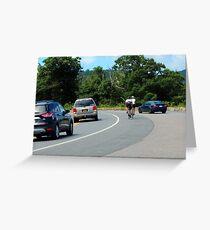Sharing the Road Greeting Card