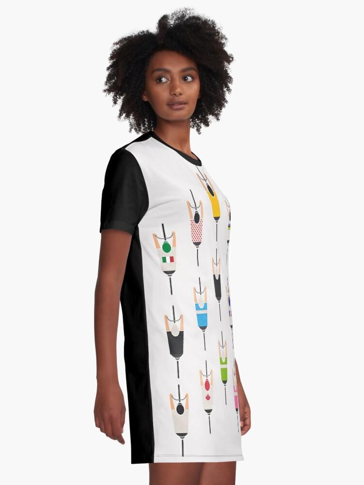 Alternative Ansicht von Fahrradgruppe T-Shirt Kleid