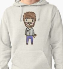 bob ross watercolor doodle Pullover Hoodie
