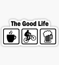 The Good Life Mountain Biking Sticker