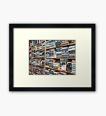 You can never have too many books. Framed Print