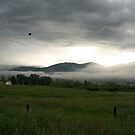 Balloon over Steamboat  by Andrea Kennedy