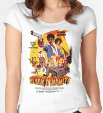 Black Dynamite 1 Women's Fitted Scoop T-Shirt