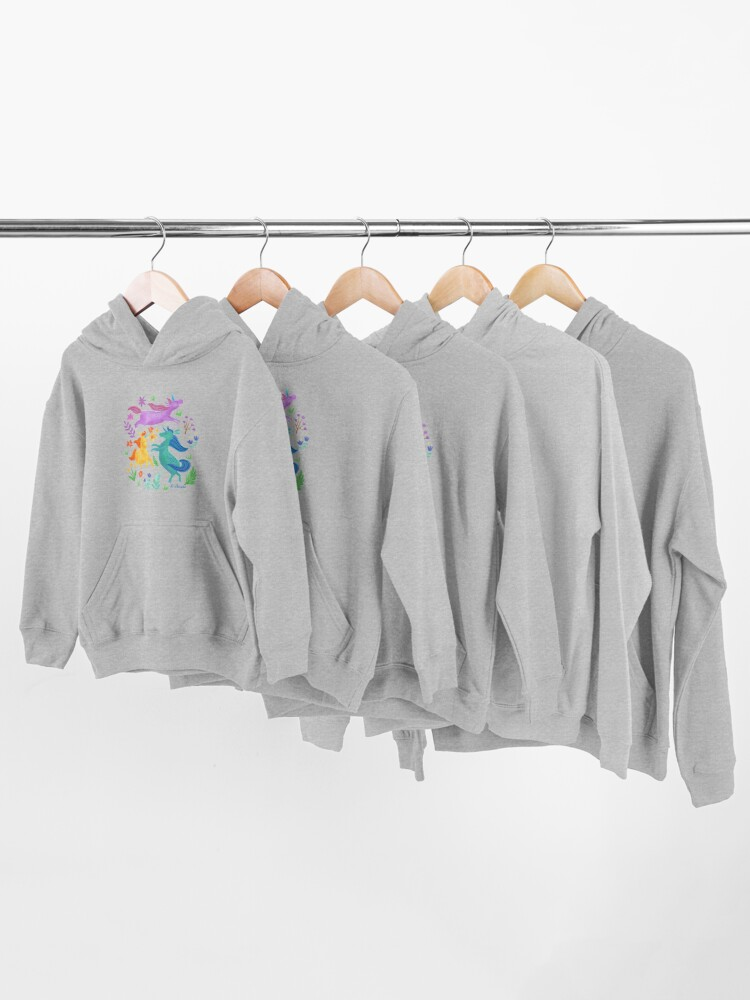Alternate view of Unicorn Dreams Kids Pullover Hoodie