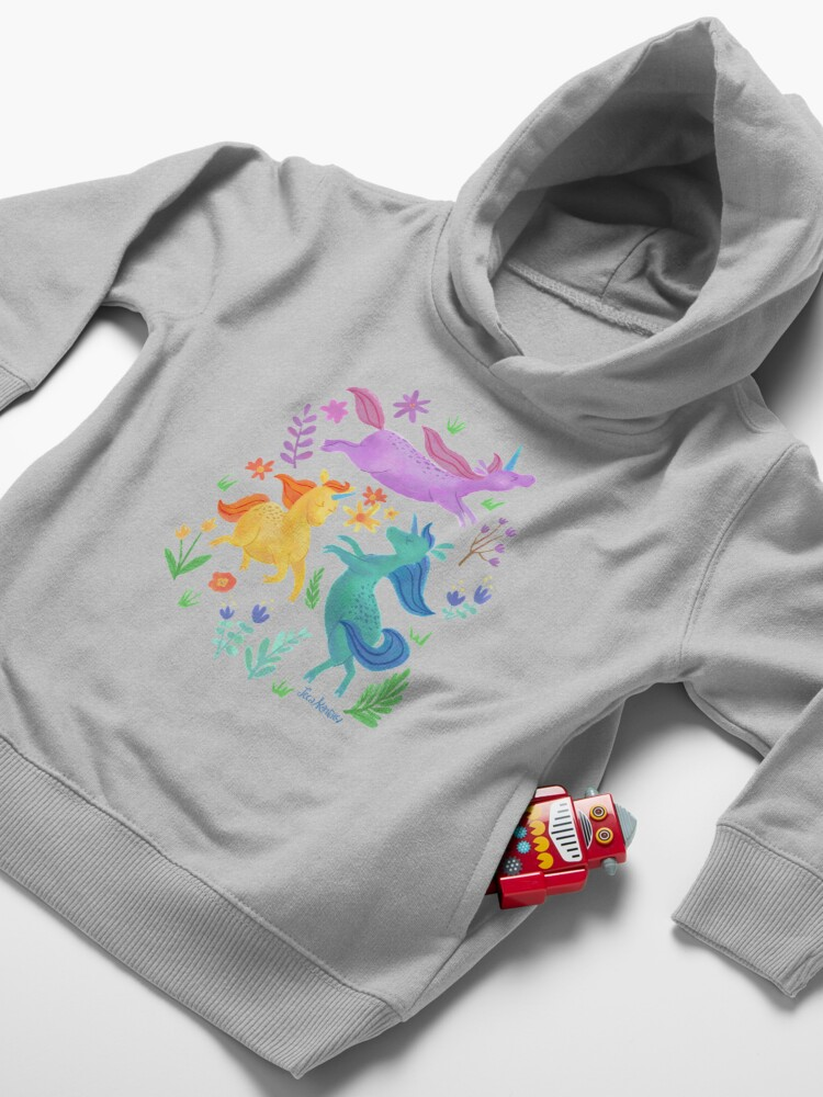 Alternate view of Unicorn Dreams Toddler Pullover Hoodie