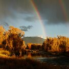 Rainbow over the Yampa River in fall  by Andrea Kennedy