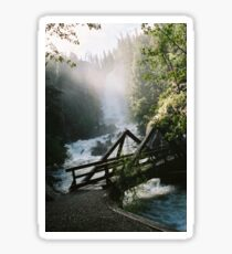 Waterfalls: Fish Creek Falls, Steamboat CO Sticker