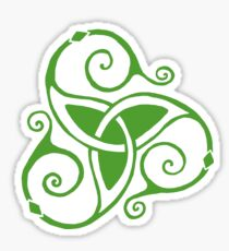 Spiral Celtic Tri Knot in Green Sticker