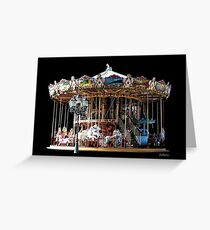 Historic Two-Stage Carousel Greeting Card