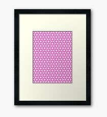 """pink matrix"" abstract iPhoneography Framed Print"