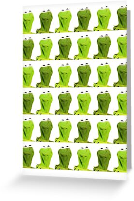 Kermit the frog greeting cards by megasilly redbubble kermit the frog by megasilly m4hsunfo