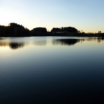 Indian summer sunset at the fishing lake V   waterscape photography by patrickjobst