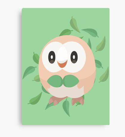 Pokemon Minimalist Rowlet Vector Canvas Print